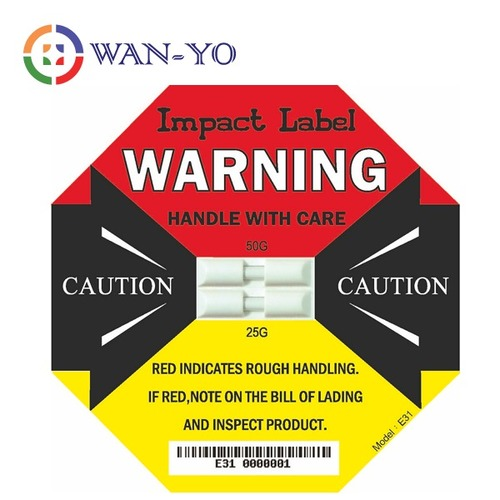 Dual Impact Label E31 (25G-50G) : 2 Indicators in Shock Label