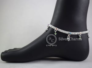 Attractive Design Silver Anklets
