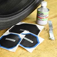 Black Tyre Repairing Patches