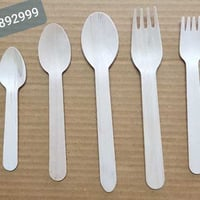 Plain Wooden Spoon and Fork