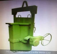 SG Iron Treatment Foundry Ladle with Lid