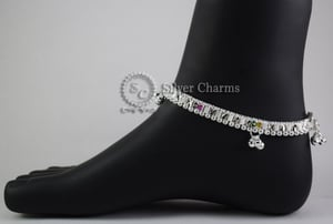 Baby Silver Fancy Anklets