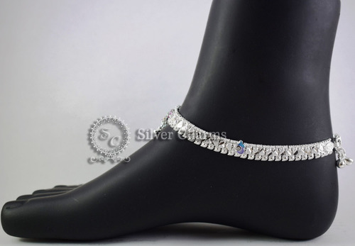 Fancy Sterling Silver Anklets