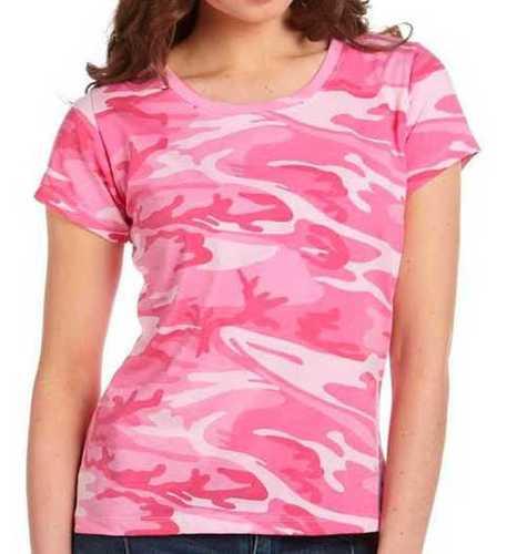 Pink Ladies Pure Cotton T Shirts