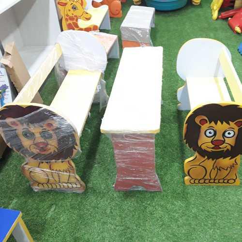 School Kids Wooden Bench