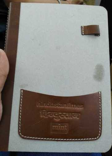 White And Brown Cover Corporate Diaries