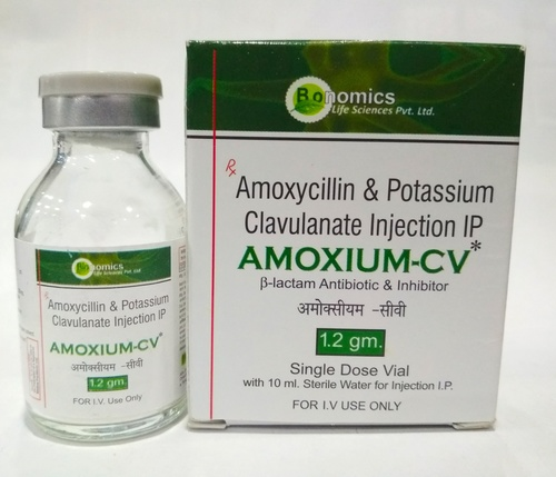 Amoxycillin 1gm + Potassium Clavulanate Acid 200mg Injection