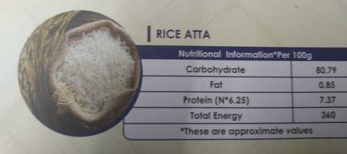 Fresh White Rice Flour  Carbohydrate: 80.79 Percentage ( % )