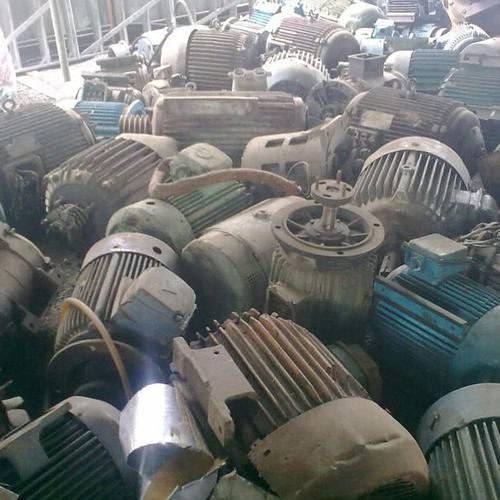 Gray Electric Motors Metal Scrap