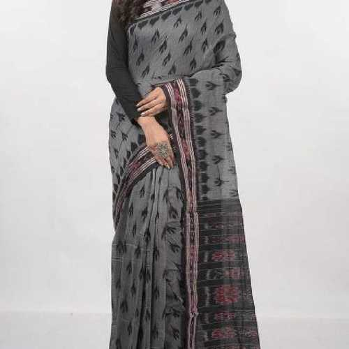 Printed Ikkat Cotton Saree
