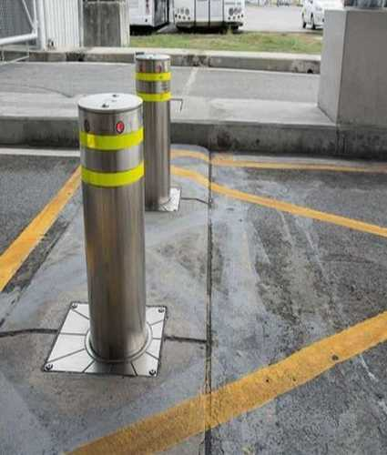 Silver Rigid Construction Parking Bollards
