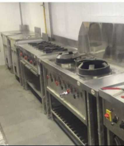Shiny Look Commercial Cooking Range