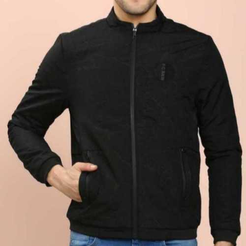 Black Mens Winter Quilted Jacket