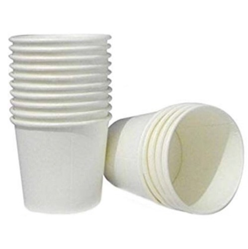 White Disposable Plain Paper Coffee Cup