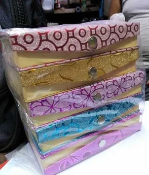 Paper Plating Glass Jewellery Boxes