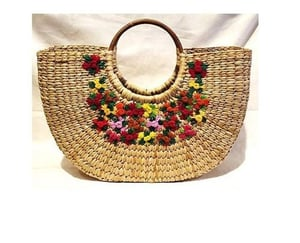 Fancy Embroidered Bamboo Bags