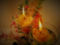 Rose Small Floating Candle