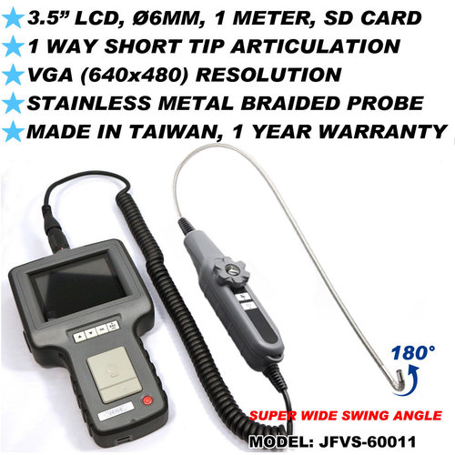 1 Way Articulation VGA Inspection Video Borescope (NDT JFVS-60011)