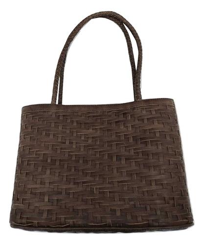 Genuine Leather Weaved Handbag