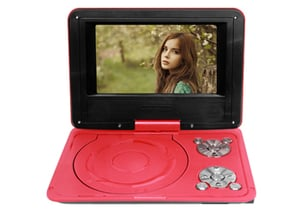 """7'' TFT LED Portable DVD Player (8""""casing)"""