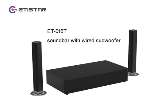 Soundbar with Wired Subwoofer