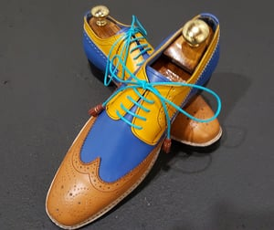 Araanha Handmade, Hand Painted Patina Goodyear Welted Leather Shoes