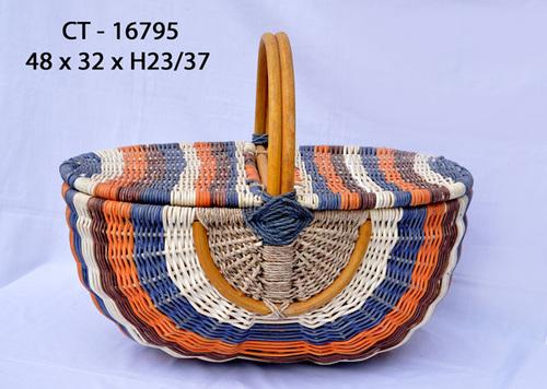 Multi Color Rattan Handbag