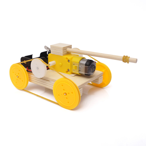Educational Children Diy Toy Assembly Wood Tank Model Kit