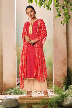 Cotton Print Embroidery Salwar Suit