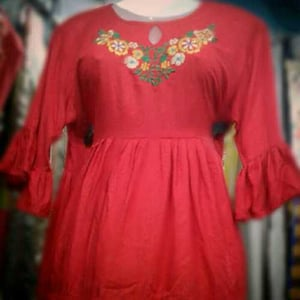 Ladies Hand Embroidered Rayon Top
