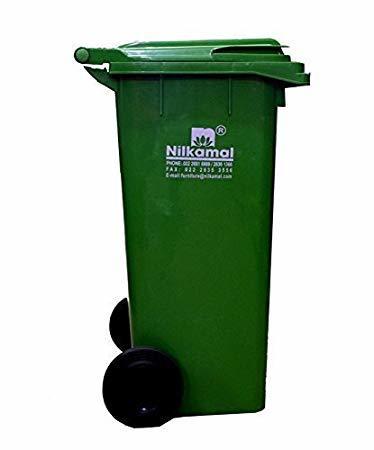 Green 120 Liters Waste Dustbin