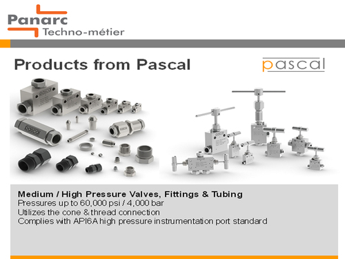 High Pressure Valves Fittings And Tubes