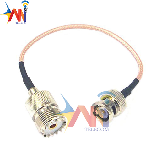 3an Uhf So239 Female To Bnc Male Coax Rf Uhf Vhf Radio Coaxial Antenna Cable Mobile To Base Antenna Cord 5.9 Inch