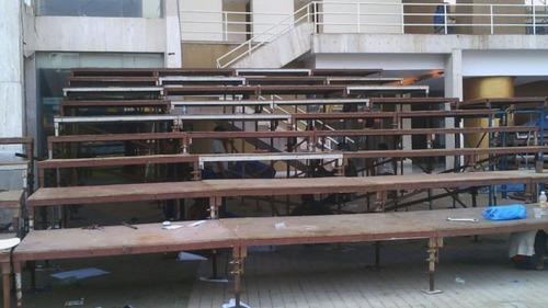 Exhibition Wooden Platform Flooring Rental Service