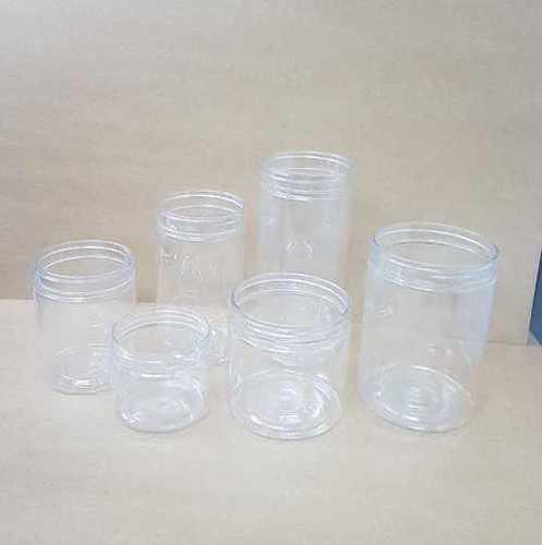 Clear Plastic Pet Jar