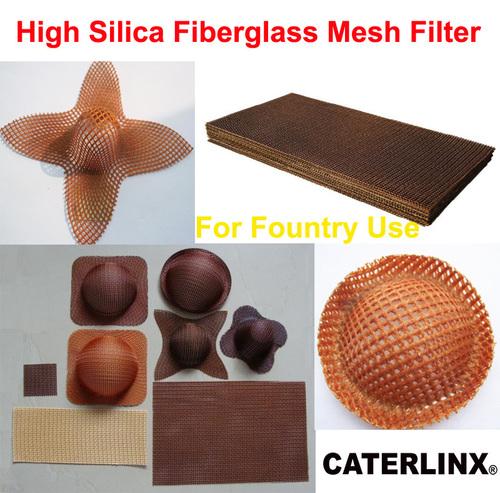 High Silica Fiberglass Mesh Filter For Casting Use