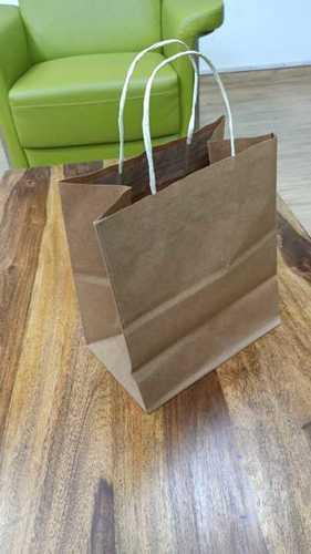 Plain Brown Paper Shopping Bags