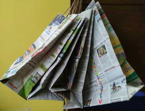 Upcycled Newspaper Shopping Bags