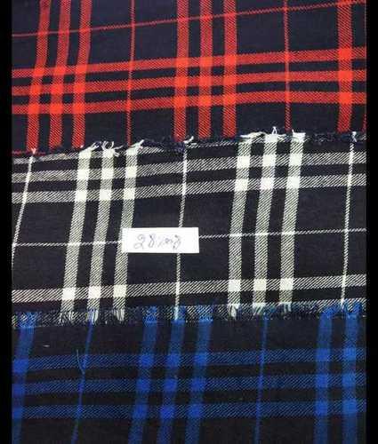 Checks Soft Woolen Fabric