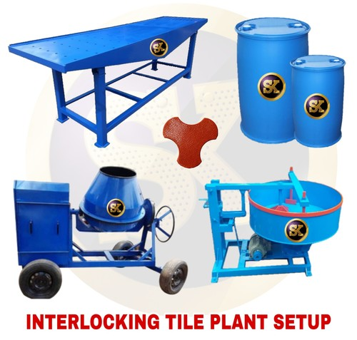 Interlocking Tiles Making Plant Setup