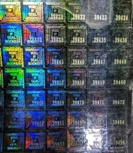 Holographic Serial Number Label