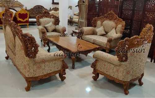 Brown Modular Wooden Sofa Set At Price Range 2500.00 - 6000.00 INR/Piece In Indore | ID: 6203734