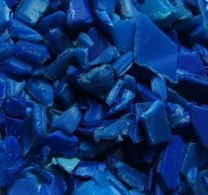 Regrind HDPE Blue Drum