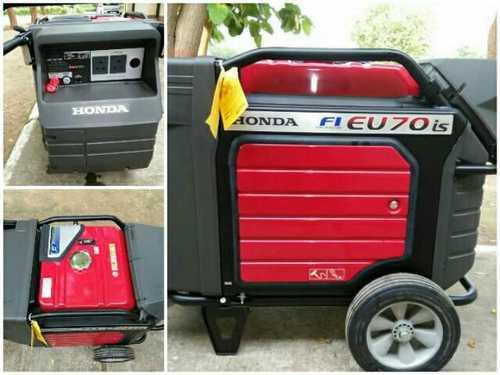 Red-Black Eu 70Is Honda Portable Genset