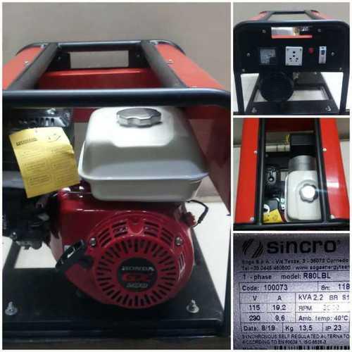 Red Honda Gx200 Engine + 3 Kva Sincro Alternator