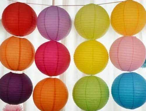 Round Plain Paper Lanterns Size: Vary