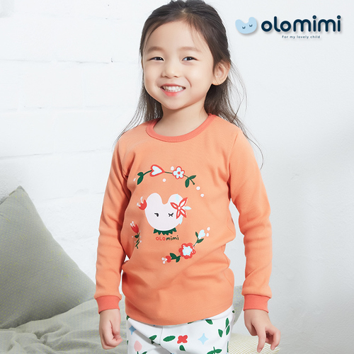 Various (Olomimi) Korea 2019 New Sleepwear Pajamas, Pink-Flower