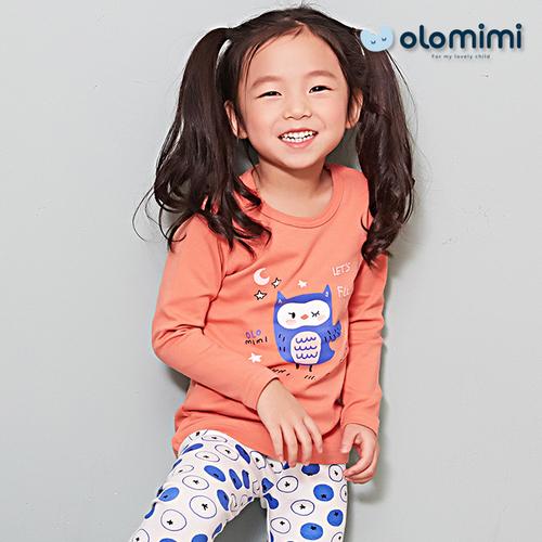(Olomimi) Korea 2019 Printed New Fleece Pajamas Age Group: 2-12
