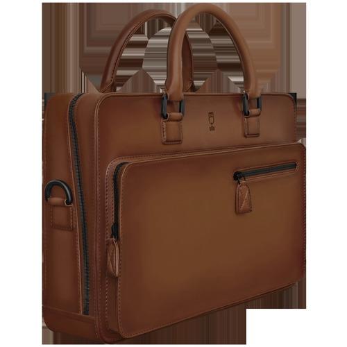 Plain Leather Briefcase Bag
