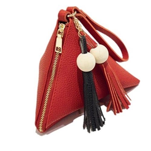 Women PU Leather Triangle Purse